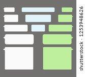 message bubbles chat vector...   Shutterstock .eps vector #1253948626