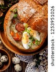 the sour soup   urek  made of... | Shutterstock . vector #1253951026