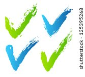 collection of blue and green... | Shutterstock .eps vector #125395268