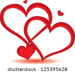 red valentine day heart... | Shutterstock .eps vector #125395628