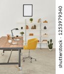 office room  working table ... | Shutterstock . vector #1253979340
