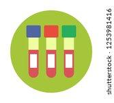 blood test tubes flat icon. you ...