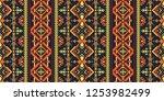 aztec geometric seamless... | Shutterstock .eps vector #1253982499