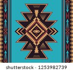 aztec geometric seamless... | Shutterstock .eps vector #1253982739