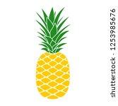 pineapple icon. tropical fruit. ... | Shutterstock . vector #1253985676