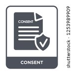 Consent Icon Vector On White...