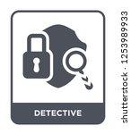 detective icon vector on white... | Shutterstock .eps vector #1253989933