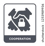 cooperation icon vector on... | Shutterstock .eps vector #1253989936