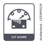 cit score icon vector on white... | Shutterstock .eps vector #1253993119