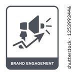 brand engagement icon vector on ... | Shutterstock .eps vector #1253993446