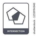 intersection icon vector on...   Shutterstock .eps vector #1253994340