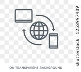 remote access icon. trendy flat ... | Shutterstock .eps vector #1253997439