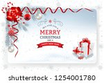 christmas background with... | Shutterstock .eps vector #1254001780