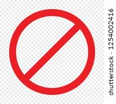 not approved symbol on... | Shutterstock .eps vector #1254002416