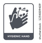 hygienic hand icon vector on... | Shutterstock .eps vector #1254009409