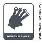 push four fingers icon vector... | Shutterstock .eps vector #1254009499