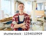 content confident handsome... | Shutterstock . vector #1254010909