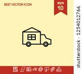 automobile icon vector | Shutterstock .eps vector #1254012766