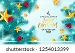 merry christmas sale.universal... | Shutterstock .eps vector #1254013399