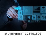 businessman working with new... | Shutterstock . vector #125401508