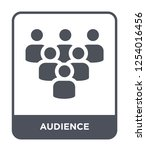 audience icon vector on white... | Shutterstock .eps vector #1254016456