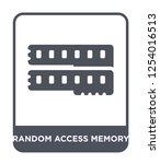 random access memory icon... | Shutterstock .eps vector #1254016513