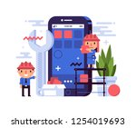 business illustration in flat...
