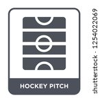 hockey pitch icon vector on... | Shutterstock .eps vector #1254022069