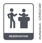 reservation icon vector on... | Shutterstock .eps vector #1254022180
