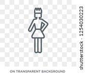 self confidence icon. trendy... | Shutterstock .eps vector #1254030223