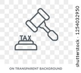 tax law icon. trendy flat... | Shutterstock .eps vector #1254032950