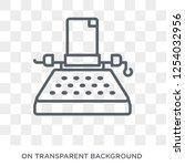 typewriter icon. trendy flat... | Shutterstock .eps vector #1254032956