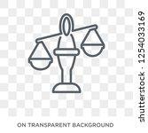 law balance icon. trendy flat... | Shutterstock .eps vector #1254033169