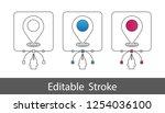 map pointer symbol   outline... | Shutterstock .eps vector #1254036100