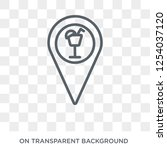 club location icon. trendy flat ... | Shutterstock .eps vector #1254037120