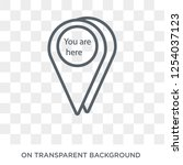 you are here icon. trendy flat... | Shutterstock .eps vector #1254037123