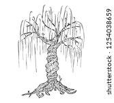 tree icon. vector illustration...   Shutterstock .eps vector #1254038659