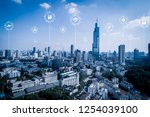 5g network wireless systems and ... | Shutterstock . vector #1254039100