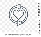 loyalty icon. loyalty design... | Shutterstock .eps vector #1254041716