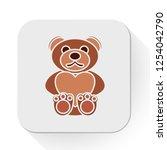 vector teddybear animal. flat... | Shutterstock .eps vector #1254042790