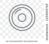 cd icon. cd design concept from ... | Shutterstock .eps vector #1254045769