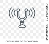 tuning fork icon. tuning fork...   Shutterstock .eps vector #1254048550