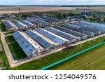 large livestock farm. evening... | Shutterstock . vector #1254049576
