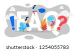 faq or question and answer... | Shutterstock .eps vector #1254055783