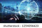 businessman on blurred... | Shutterstock . vector #1254056623