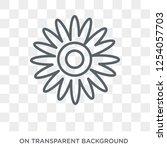 gerbera icon. trendy flat... | Shutterstock .eps vector #1254057703