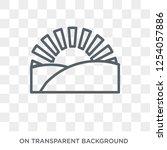 sunrise icon. trendy flat... | Shutterstock .eps vector #1254057886