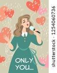 vector valentines day... | Shutterstock .eps vector #1254060736