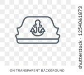 sailor cap icon. trendy flat... | Shutterstock .eps vector #1254061873