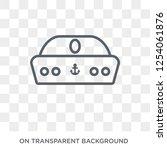 sailor hat icon. trendy flat... | Shutterstock .eps vector #1254061876